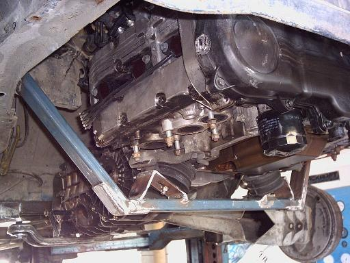 SVX engine in place