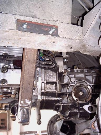 Porsche G50 transmission in place