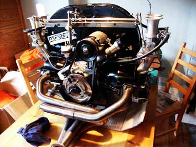 Engine with original fan